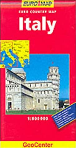 Italy Euro Country Map 1:800.000 - Geocenter Intl Ltd